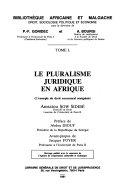 illustration du livre Le Pluralisme juridique en Afrique
