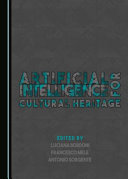Artificial Intelligence For Cultural Heritage