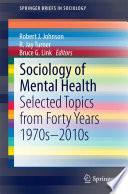 Sociology of Mental Health