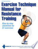 Exercise Technique Manual for Resistance Training 2nd Edition