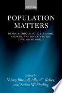 Population Matters   Demographic Change  Economic Growth  and Poverty in the Developing World