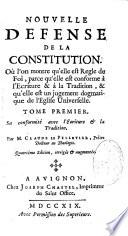 Nouvelle d  fense de la Constitution Unigenitus  ou l on montre qu elle est r  gle de foi  par Claude le Pelletier