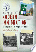 The Making of Modern Immigration  An Encyclopedia of People and Ideas  2 volumes