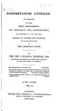 download ebook mahometanism unveiled pdf epub