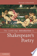The Cambridge Introduction to Shakespeare s Poetry