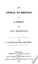 An Appeal to Britain by a Lover of His Country