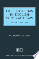 Implied Terms in English Contract Law  Second Edition