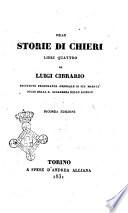 Delle storie di Chieri libri quattro di Luigi Cibrario