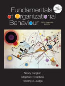 Fundamentals of Organizational Behaviour  Updated Fifth Canadian Edition
