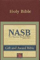 Gift and Award Bible NASB