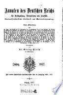 Annalen des Deutschen Reiches für Gesetzgebung, Verwaltung und Volkswirtschaft