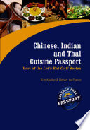 illustration Chinese, Indian and Thai Cuisine Passport
