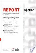 REPORT 04/2012 - Bildung und Migration
