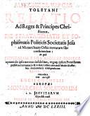 A. de V. ... relatio ad Reges et Principes Christianos de Stratagematis et Sophismatis politicis Societatis Jesu ad Monarchiam Orbis Terrarum sibi conficiendam, etc. (Sedis apostolicæ censura, I. adversus novam ... Societatis Jesu doctrinam nuper in Hispania publicatam by J. B. Poza ; II. adversus novam ... sectam mulierum Jesuitissarum, Friburgi Helvetiorum ... introductam ... - Societatis Jesu novum fidei Symbolum in Hispania promulgatum, etc.)