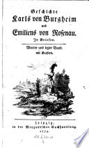 Geschichte Karls von Burgheim und Emiliens von Rosenau