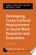 Developing Cross Cultural Measurement in Social Work Research and Evaluation