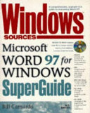 Windows Sources Microsoft Word 97 for Windows Superguide