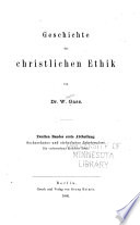 Geschichte der christlichen Ethik: Bd. Bis zur Gegenwart