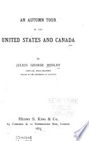An Autumn Tour in the United States and Canada Book PDF
