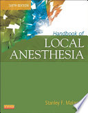 Handbook of Local Anesthesia   E Book