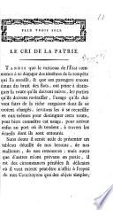 Le cri de la Patrie. [On the condition of Parties in Geneva.]