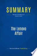 Summary: The Lenovo Affair