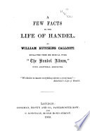 A Few Facts In The Life Of Handel