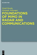 Foundations Of Mimo In Radar And Communications