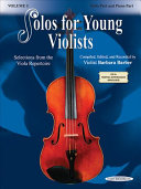 Solos for Young Violists Music Books With Companion Compact Discs Featuring