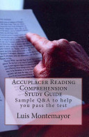 Accuplacer Reading Comprehension Study Guide