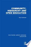 Community  Hierarchy and Open Education  RLE Edu L