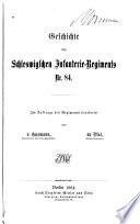 Geschichte des Schleswigschen Infanterie-Regiments