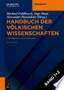 Handbuch der v  lkischen Wissenschaften