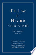 The Law Of Higher Education A Comprehensive Guide To Legal Implications Of Administrative Decision Making