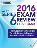 Wiley Series 6 Exam Review 2016   Test Bank