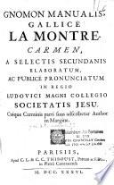 Gnomon manualis  gallice la Montre