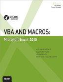 VBA and Macros