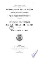 Bulletin de statistique municipale   Ville de Paris