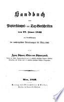 Handbuch der Papierst  mpel  und Tax Vorschriften vom 27  J  nner 1840 mit Ber  cks  der nachtr  glichen Verordnungen bis M  rz 1845