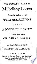 Miscellany Poems