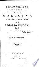 Introduzione alla storia della medicina antica e moderna