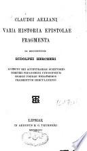 Claudii Aeliani De animalium natura, libri XVII