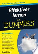 Effektiver lernen f  r Dummies