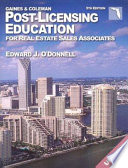 Florida Post Licensing Education for Real Estate Salespersons