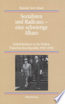 Sozialisten und Radicaux   eine schwierige Allianz