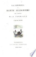 La Commedia di Dante Allighieri col comento di N  Tommaseo
