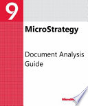 Document Analysis Guide For For Microstrategy 9 3