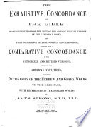 The Exhaustive Concordance of the Bible Book PDF