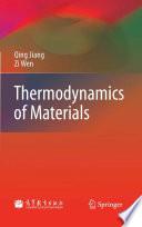 Thermodynamics Of Materials book
