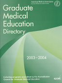 Graduate Medical Education Directory 2003 2004